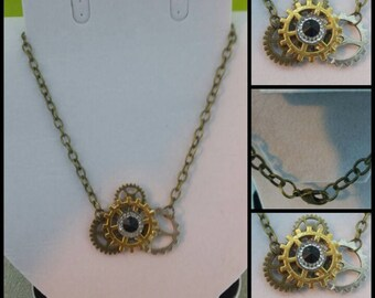 4 Gear SteamPunk Necklace