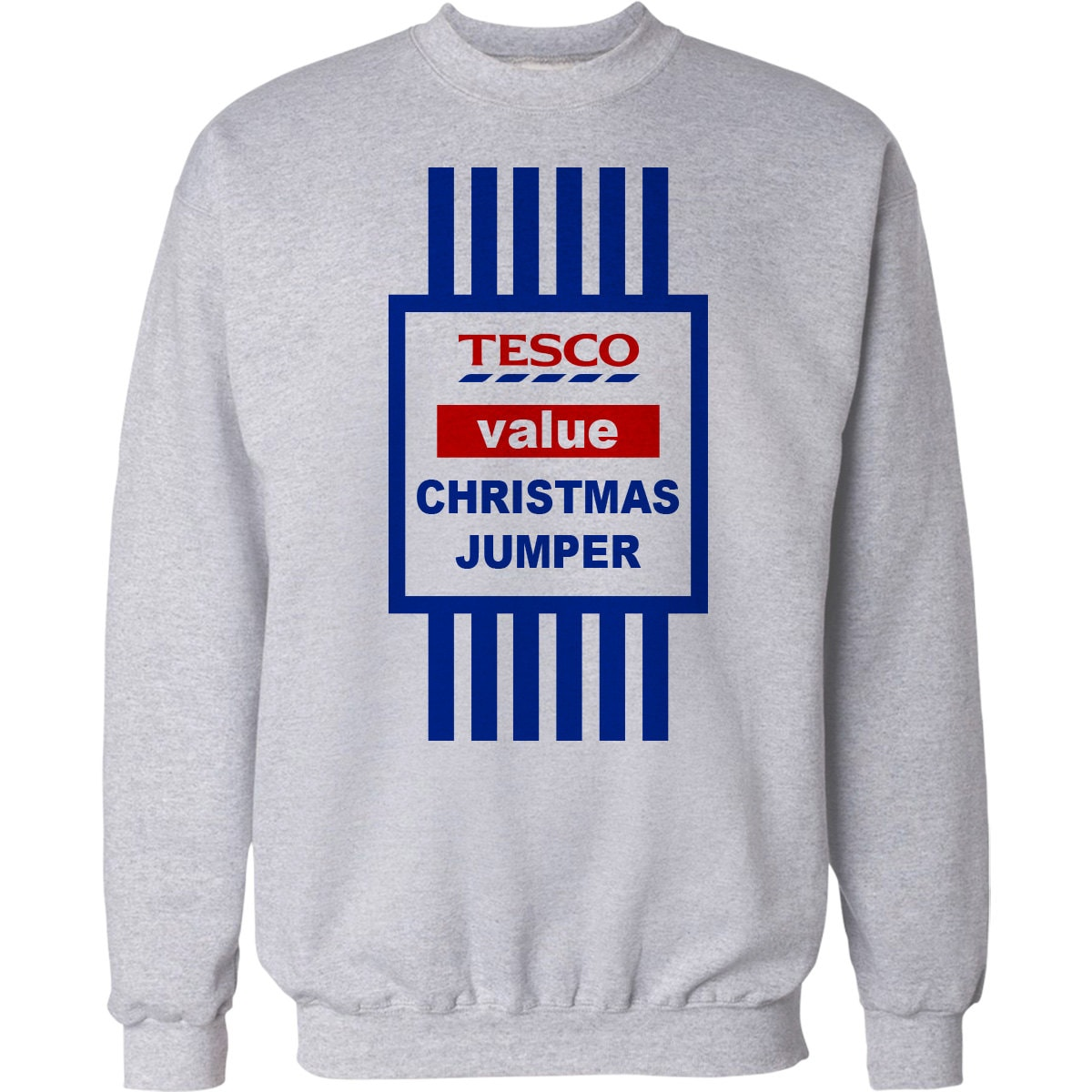 Christmas Jumper Gift Funny Tesco Value Xmas Sweater Mens And