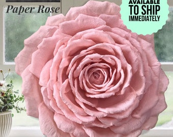 Ready to Ship, Extra Large Paper Flower, Deluxe Garden Rose,  Handmade Wall Flower, Wedding Decor, Baby Nursery Art, Luxury Paper Flower