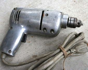 """Van Camp Electric Drill//1/4"""" Drill Model No. 740C//Made in USA//Vintage Electric Drill"""