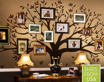 Family Tree Decal   Photo Frame Tree Decal   Family Tree Wall Sticker   Living  Room