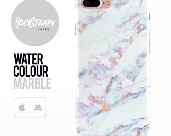Marble Effect iPhone 8 Plus case, iPhone 8, 6, 7 Plus, X, 5S, SE, 5C  cover, samsung Galaxy S8, S6, S7 EDGE S5 phone gift UK, purple,blue