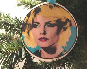 Debbie Harry Blondie Andy Warhol Christmas Ornament