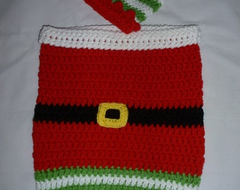 Elf Bunting and Hat 0-3 months