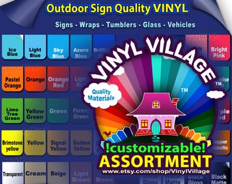 1 roll 24x10ft Adhesive Backed Vinyl YOU PICK COLORS Outdoor sign quality great on Craft cut cutters Gloss, wraps, tumblers, glass, vehicles