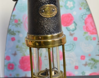 E Thomas and Williams Vintage 1800s Welsh Miners Davy Brass Lamp No 294 Aberdale (E9c)