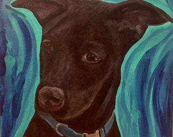 Custom Pet Portrait- Acrylic on Canvas