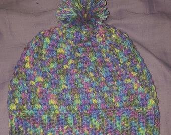 Crochet Multi-colored Beanie