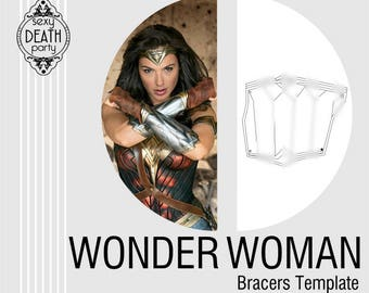 Wonder Woman Bracers Template (PDF download)