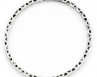 1 connector ring patterned shape 40 * 38 mm round