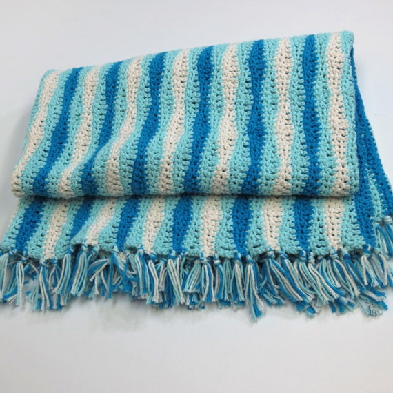 Ocean Wave Throw Crochet Throw Knit Throw Crochet