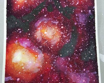 Colorful red galaxy