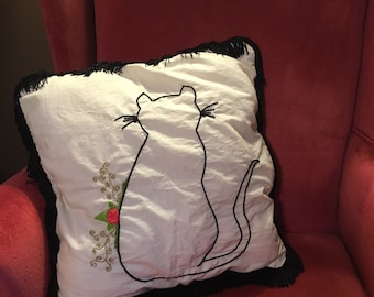 Cat in the Garden Pillow