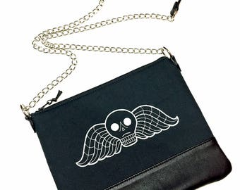 MADE TO ORDER, Deaths head bag, deaths head crossbody bag, cemetey bag, tombstone bag