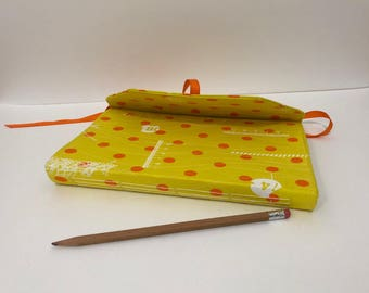 Handcrafted Journal - Yellow Orange Dot