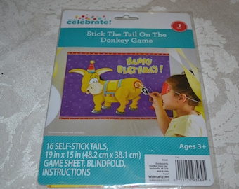 Stick the Tail on the Donkey Game/Stick the Tail on The Donkey Party Game/Party Game/Pin the Tail on the Donkey Game
