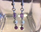 Swarovski pearl earrings,...