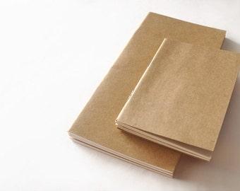 Regular Size Traveler's notebook refills / Pack of 3