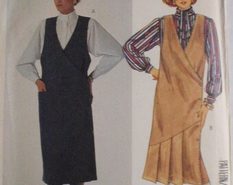 McCall's 2672 - Sewing Pattern For Women's Wrap Jumper, Blouse and Tie - Size 12, Bust 34, Uncut