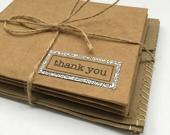 Thank You Cards Greeting Cards Handmade Thank You Notes Recycled Paper handmade cards Thank You Note Cards Repurposed Upcycled paper