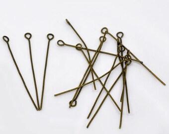 50 nails at 42 x 0.7 mm eye, bronze