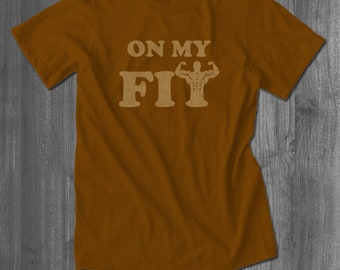 On My Fit Workout T shirt exercise tee tops t-shirts| Free Shipping