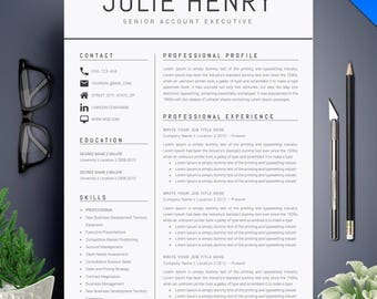 Resume template etsy modern resume template cv template cover letter professional and creative resume teacher resume word resume instant download yelopaper Images