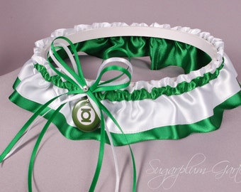 Green Lantern Wedding Garter