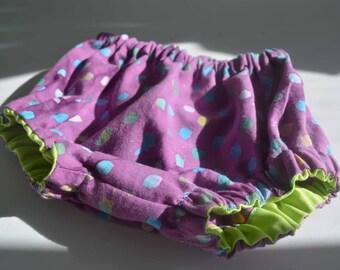 Purple Batik Cotton Bloomers