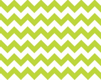 Lime Small Chevrons Fabric by Riley Blake Designs - By the Yard - 1 Yard - Lime Green