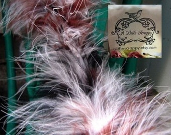 Marabou Boa Feathers Black Brown and White Mix