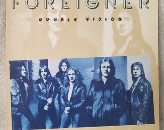 "Foreigner 1978 Double Vision (SD 19999) 12"" Vinyl 33 LP - Blue Morning Blue Day Hot - Blooded -  Love Has Taken Its Toll - Rock Atlantic VG+"