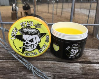 LONE STAR Slick Extra Shiny 35 Water Based Pomade Dixie Cowboy 4oz Glycol & Petroleum Free Conditioning Men's Women's Styling Wax Gel Grease