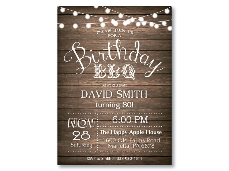 80th birthday party invitations templates free download - Etame ...