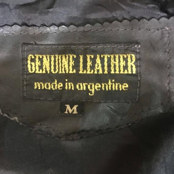 GENUINE Jacket In Biker Sweater Made Coat ARGENTINA Vintage LEATHER Motorcycle CvgqPg