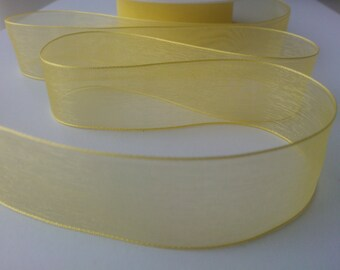 25mm Yellow Organza Ribbon