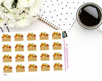 Planner Stickers |Farmers Market Box Decorative Stickers|For use in a wide variety of planners and journals|D022
