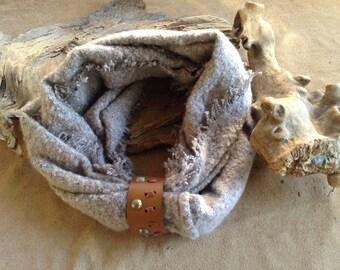 Leather Cuff Scarf