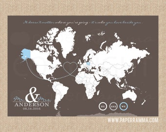 Places visited map etsy lovers travel map interactive map art mark the places youve visited gumiabroncs Image collections
