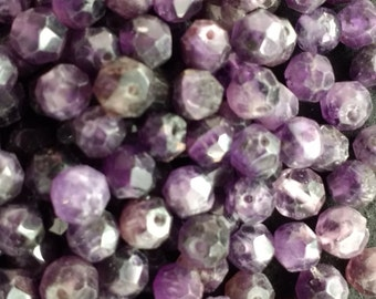 Vintage Amethyst 8mm Faceted Rounds