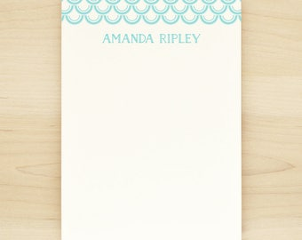 CRESCENT Personalized Notepad - Modern Custom Letterhead