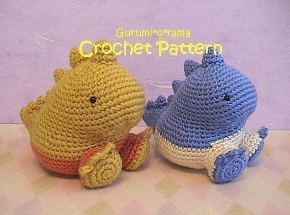 Amigurumi Dinosaur Free Pattern : Kawaii crochet dinosaur pattern crochet amigurumi pattern plush