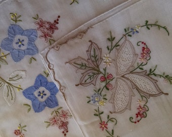 Two Embroidered Hankies