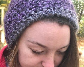 Purple slouchy hat