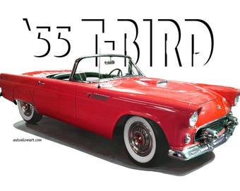 T=Shirt 1955 FORD Thunderbird