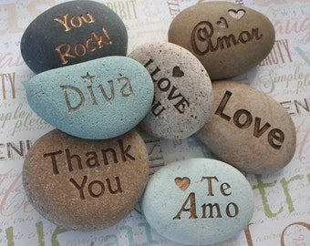 CUSTOM Engraved stone - Personalized your message stone