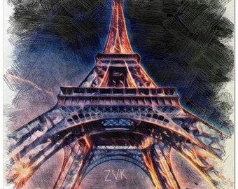 Affordable Canvas Wall Art - Eiffel Tower