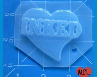 INKED Heart  Handmade Plastic Resin Mold