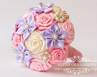 Wedding Toss bouquet, pink lilac bouquet, Wedding Accessories, Wedding set.