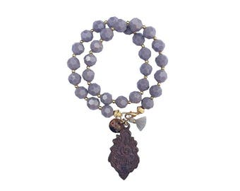 hippie bracelet gray boho bohemian peace warpbracelet hippiejewellry gypsy armcandy festival naturalstonebeads buddha